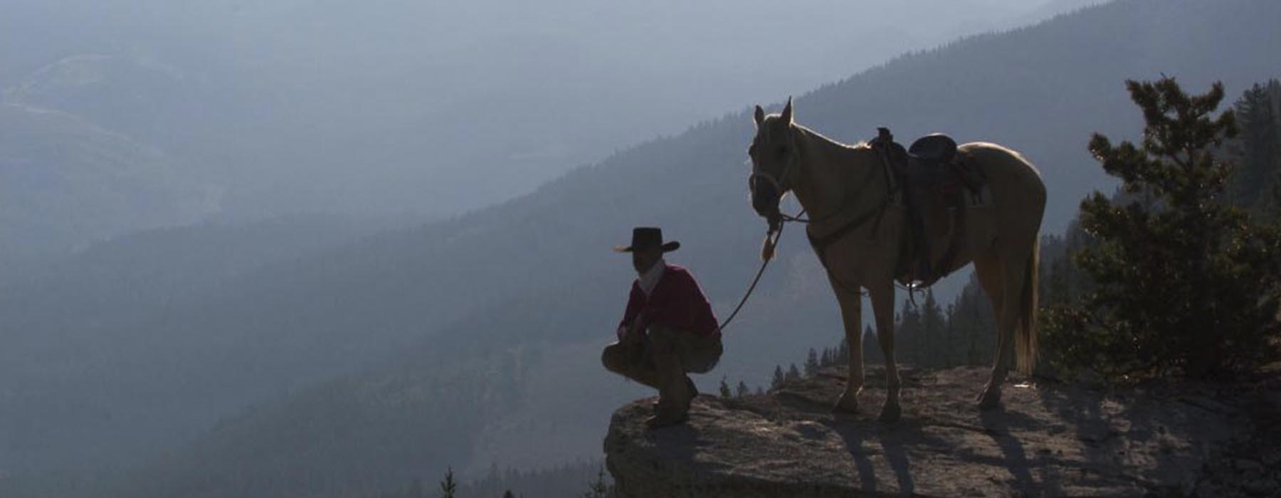 Cowboy on the overlook.