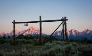 Moose Head Ranch - ranch gate.