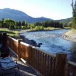 Spotted Horse Ranch - Deck on the river.